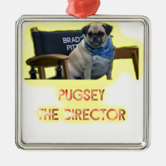 Pugsley The Director Metal Ornament