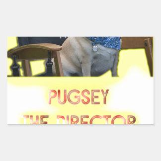 Pugsley The Director Rectangular Sticker