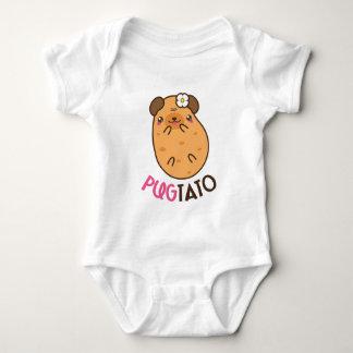 Pugtato (pug potato) baby bodysuit