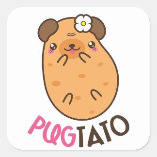 Pugtato (pug & potato) Square Stickers