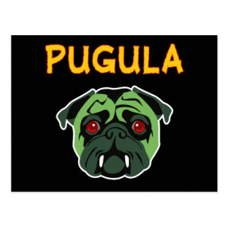Pugula the Vampire Dog Postcard