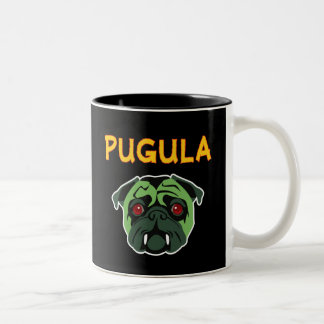 Pugula the Vampire Dog Two-Tone Mug