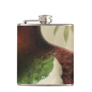 Pukeko Semi-Abstract Flask