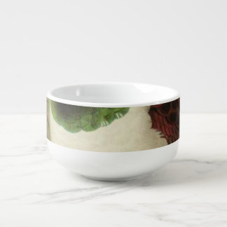 Pukeko Semi-Abstract Soup Bowl With Handle