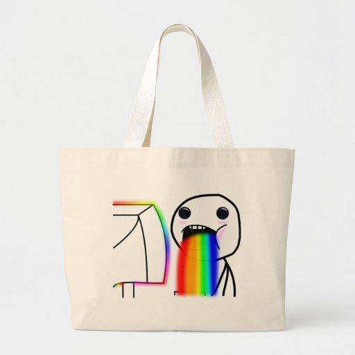 Pukes Rainbows Tote Bags