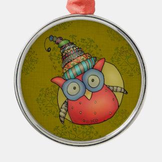 Puki Owl Holiday Ornament