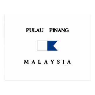 Pulau Pinang Malaysia Alpha Dive Flag Postcard