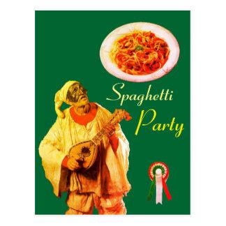 PULCINELLA ITALIAN KITCHEN SPAGHETTI PARTY Recipe Postcard