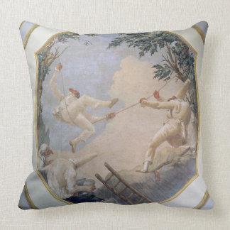 Pulcinella on a Swing, 1797 (fresco) Cushion