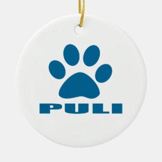 PULI DOG DESIGNS CERAMIC ORNAMENT