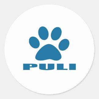 PULI DOG DESIGNS CLASSIC ROUND STICKER