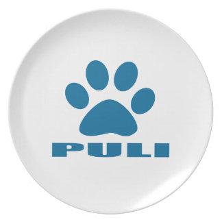 PULI DOG DESIGNS PLATE