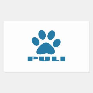 PULI DOG DESIGNS RECTANGULAR STICKER