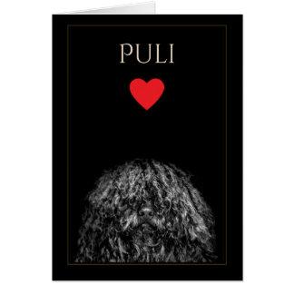 Puli Love Blank Greeting Card