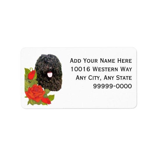 Puli on Red Roses Address Label