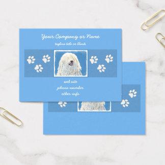 Puli Painting - Cute Original Dog Art Business Card