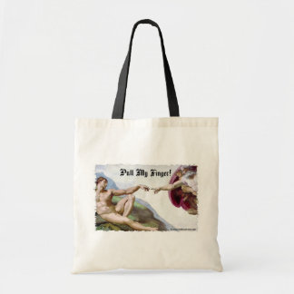 Pull My Finger Fart Humor Budget Tote Bag