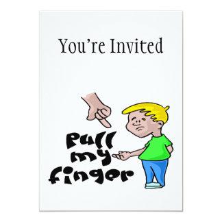 Pull My Finger 5x7 Paper Invitation Card