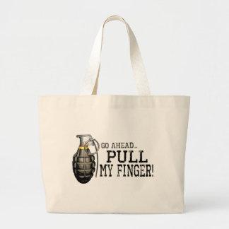 Pull My Finger Jumbo Tote Bag