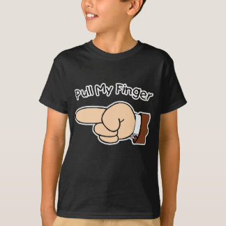Pull My Finger Kids Dark Shirt