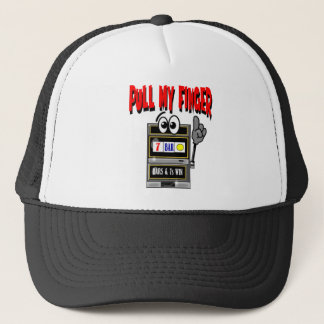 Pull My Finger Slot Machine Trucker Hat