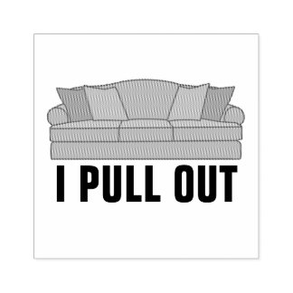 Pull Out Couch Rubber Stamp