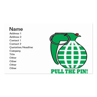 Pull The Pin Pack Of Standard Business Cards
