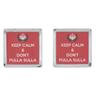 Pulla Sulla Cufflinks Silver Finish Cuff Links