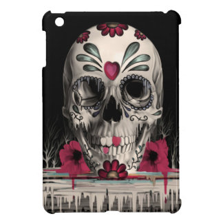 Pulled sugar, melting sugar skull cover for the iPad mini