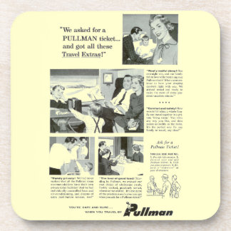 Pullman Sleeping Car for Overnight Train Travel Drink Coasters