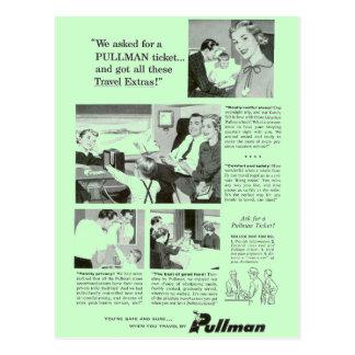 Pullman Sleeping Car for Overnight Train Travel Postcard