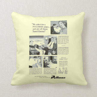 Pullman Sleeping Car for Overnight Train Travel Throw Cushions
