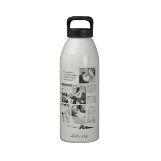 Pullman Sleeping Car for Overnight Train Travel Water Bottle