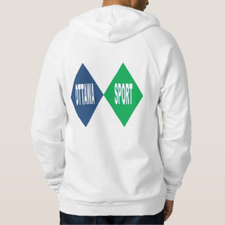 Pullover with hood white back OTTAWA SPORT