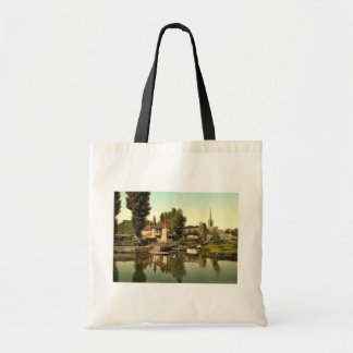 Pulls Ferry, Norwich, England rare Photochrom Tote Bags