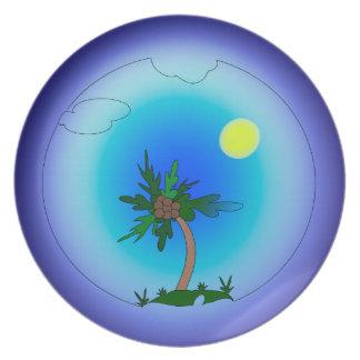 Pulm tree plate
