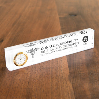 Pulmonologist   Respiratory Therapist Personalized Nameplate