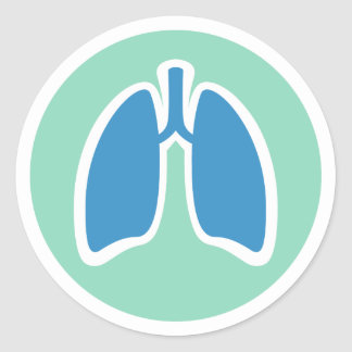 Pulmonology or pulmonologist lung logo round classic round sticker