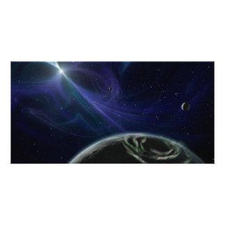 Pulsar Planet Alien Space Art Photo Card