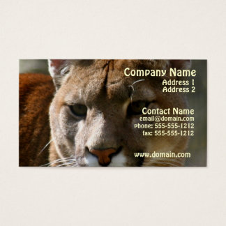 Puma Cat Business Card