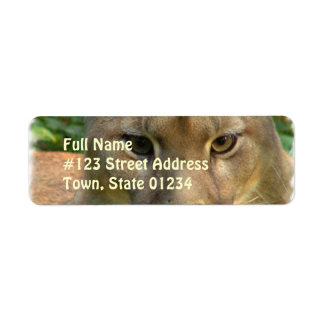 Puma Cat Return Address Mailing Label