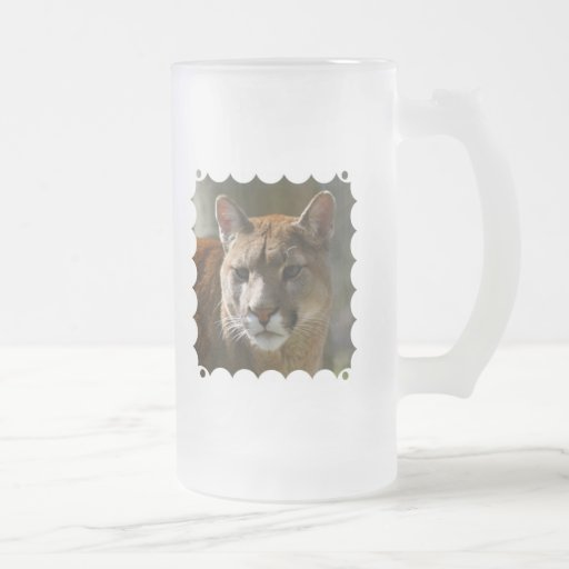 Puma Cats Frosted Beer Mug