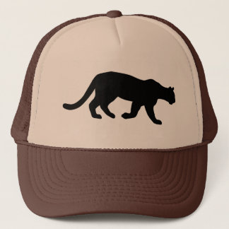 Puma Mountain Lion Cougar Silhouette Trucker Hat