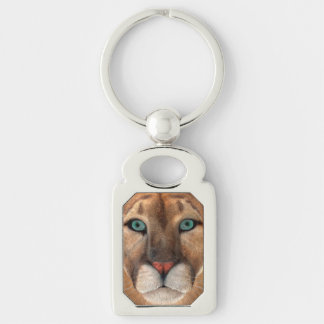 Puma Silver-Colored Rectangle Key Ring