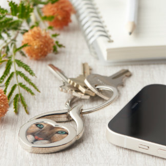 Puma Silver-Colored Twisted Heart Key Ring