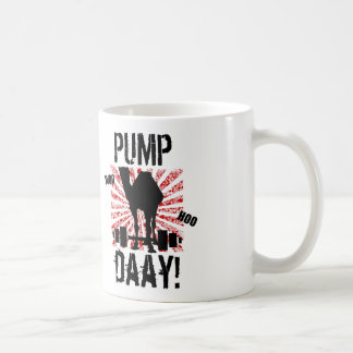 Pump Day Weightlifting Camel Mug