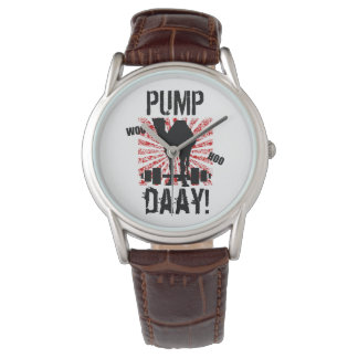 Pump Day Weightlifting Camel Watch