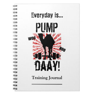 Pump Day Workout Training Journal