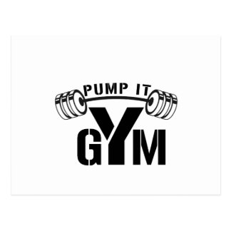 pump it gym postcard