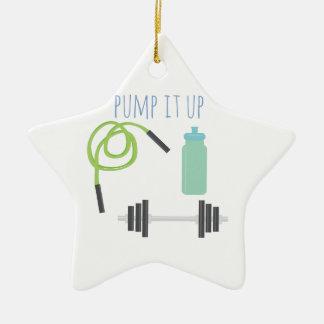 Pump it up ceramic ornament